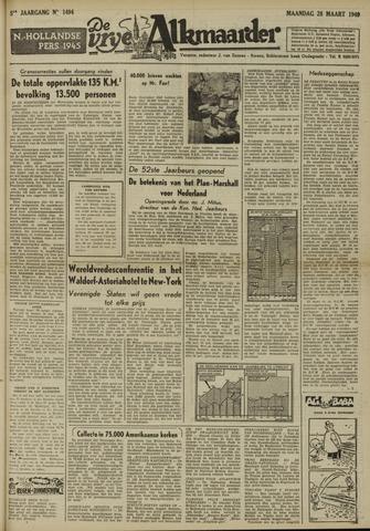 De Vrije Alkmaarder 1949-03-28