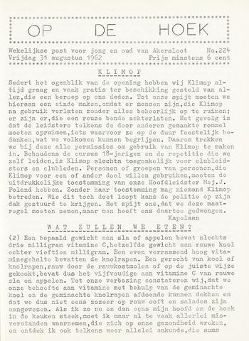 Op De Hoek, weekblad voor Akersloot 1962-08-31
