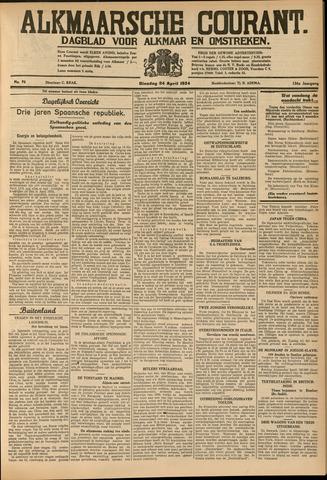 Alkmaarsche Courant 1934-04-24