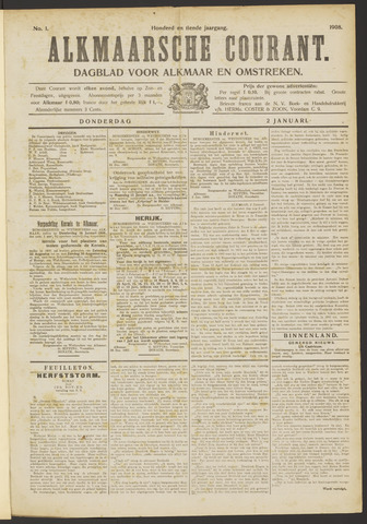 Alkmaarsche Courant 1908-01-02