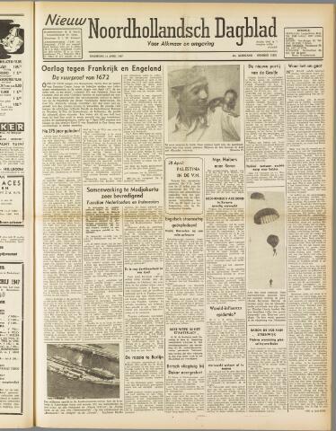 Nieuw Noordhollandsch Dagblad : voor Alkmaar en omgeving 1947-04-14