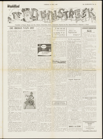 De Duinstreek 1957-11-22