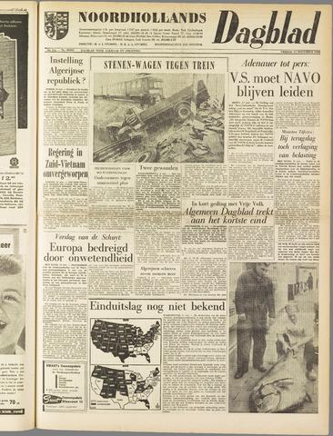 Noordhollands Dagblad : dagblad voor Alkmaar en omgeving 1960-11-11