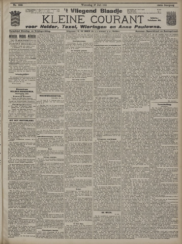 Vliegend blaadje : nieuws- en advertentiebode voor Den Helder 1910-07-27