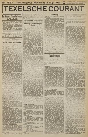 Texelsche Courant 1931-08-05