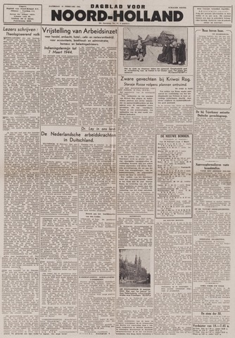 Dagblad Noord-Holland, Schager editie 1944-02-19