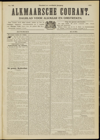 Alkmaarsche Courant 1912-06-22