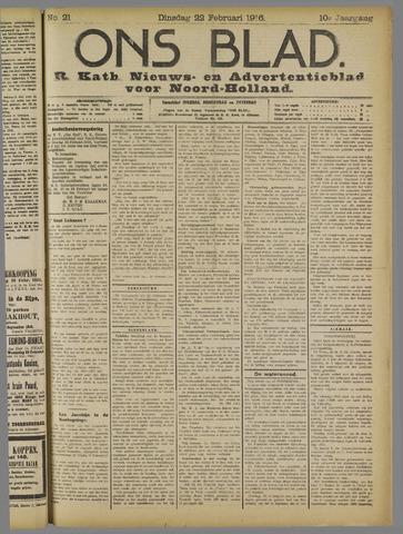 Ons Blad : katholiek nieuwsblad voor N-H 1916-02-22