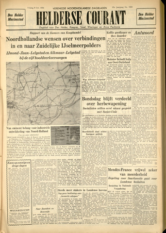 Heldersche Courant 1954-10-08
