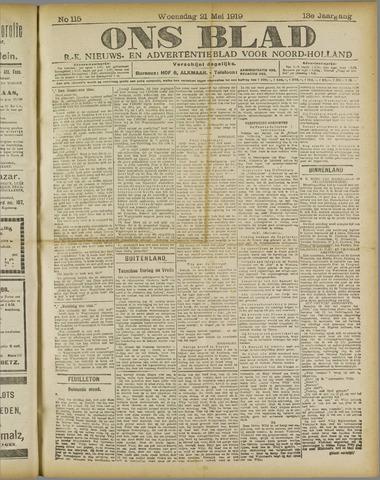 Ons Blad : katholiek nieuwsblad voor N-H 1919-05-21
