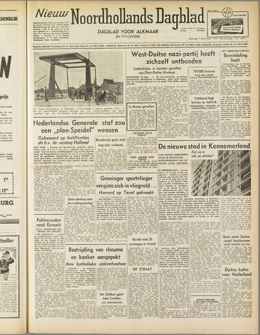 Nieuw Noordhollandsch Dagblad : voor Alkmaar en omgeving 1952-09-13