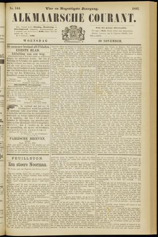 Alkmaarsche Courant 1892-11-30