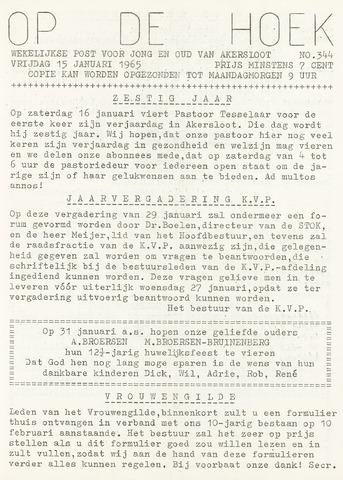 Op De Hoek, weekblad voor Akersloot 1965-01-15