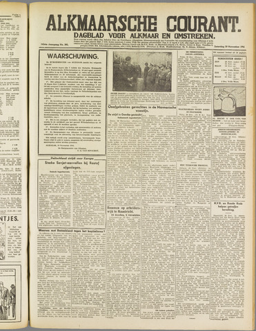 Alkmaarsche Courant 1941-11-29