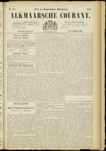 Alkmaarsche Courant 1891-02-25