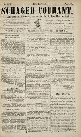 Schager Courant 1881-02-13
