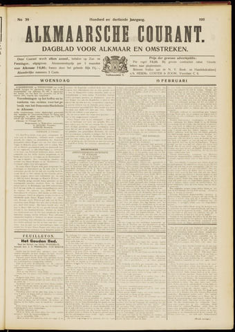 Alkmaarsche Courant 1911-02-15