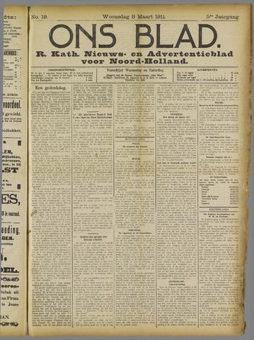 Ons Blad : katholiek nieuwsblad voor N-H 1911-03-08