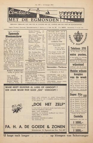 Contact met de Egmonden 1964-02-13