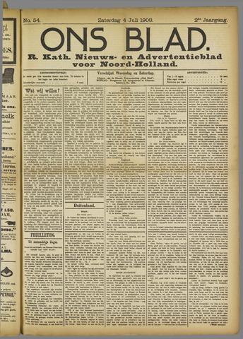Ons Blad : katholiek nieuwsblad voor N-H 1908-07-04