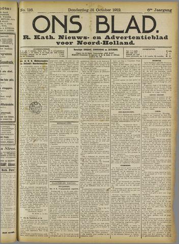 Ons Blad : katholiek nieuwsblad voor N-H 1912-10-31