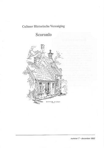 Tijdschrift van cultuurhistorische vereniging Scoronlo 1992-12-01