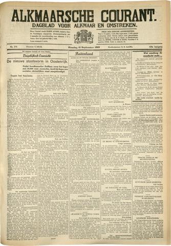 Alkmaarsche Courant 1933-09-12