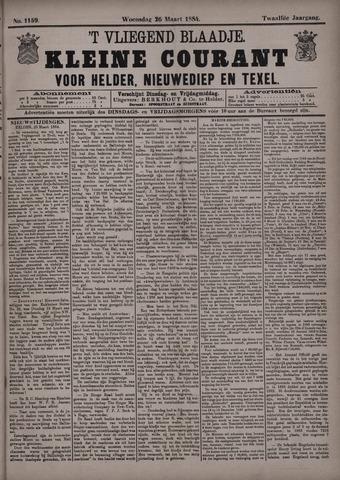 Vliegend blaadje : nieuws- en advertentiebode voor Den Helder 1884-03-26