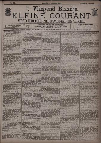 Vliegend blaadje : nieuws- en advertentiebode voor Den Helder 1887-12-07