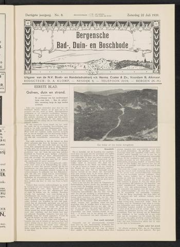Bergensche bad-, duin- en boschbode 1939-07-22