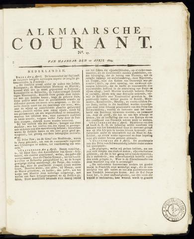 Alkmaarsche Courant 1814-04-11