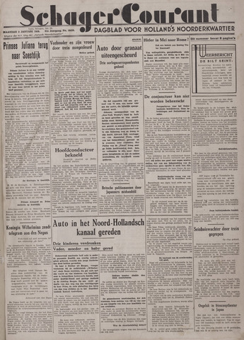 Schager Courant 1938