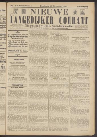 Nieuwe Langedijker Courant 1926-11-18
