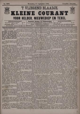 Vliegend blaadje : nieuws- en advertentiebode voor Den Helder 1884-09-17