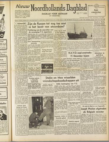 Nieuw Noordhollandsch Dagblad : voor Alkmaar en omgeving 1952-09-04