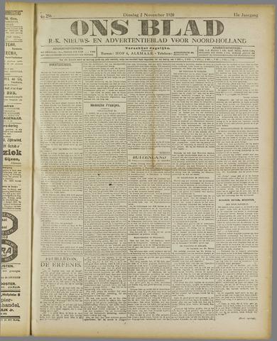 Ons Blad : katholiek nieuwsblad voor N-H 1920-11-02