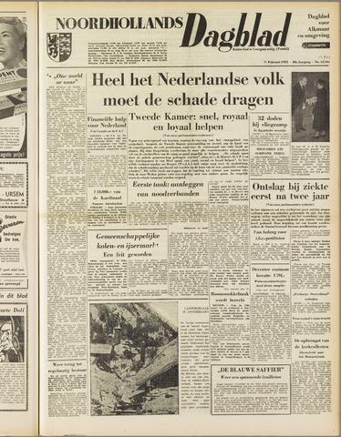 Noordhollands Dagblad : dagblad voor Alkmaar en omgeving 1953-02-11
