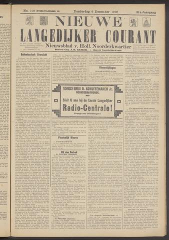 Nieuwe Langedijker Courant 1926-12-09