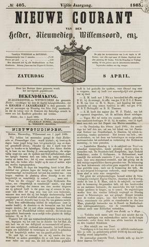 Nieuwe Courant van Den Helder 1865-04-08