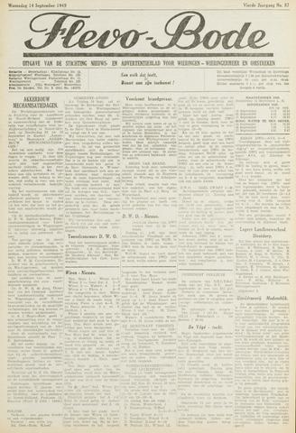 Flevo-bode: nieuwsblad voor Wieringen-Wieringermeer 1949-09-14