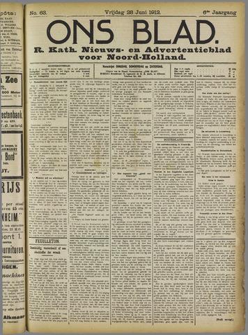 Ons Blad : katholiek nieuwsblad voor N-H 1912-06-28