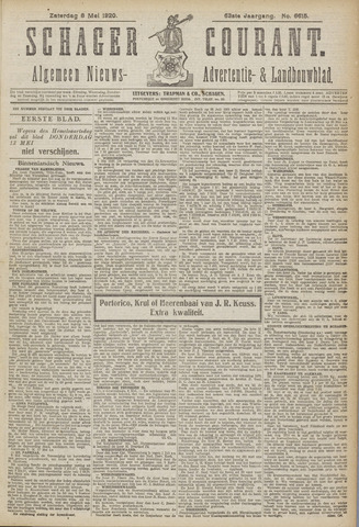 Schager Courant 1920-05-08