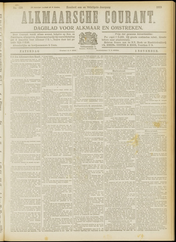 Alkmaarsche Courant 1919-11-01