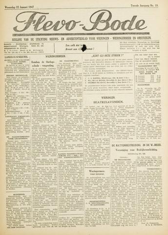 Flevo-bode: nieuwsblad voor Wieringen-Wieringermeer 1947-01-22