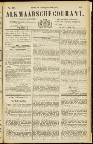 Alkmaarsche Courant 1885-12-25