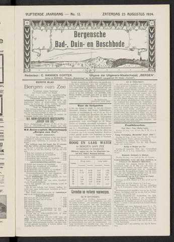 Bergensche bad-, duin- en boschbode 1924-08-23