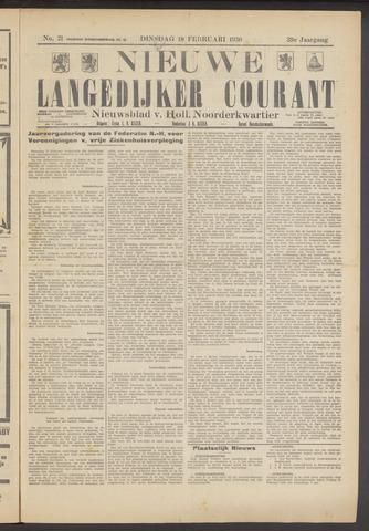 Nieuwe Langedijker Courant 1930-02-18