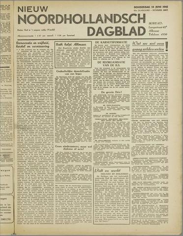 Nieuw Noordhollandsch Dagblad : voor Alkmaar en omgeving 1945-06-14
