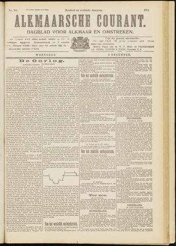 Alkmaarsche Courant 1914-12-02