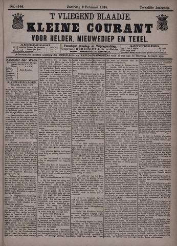 Vliegend blaadje : nieuws- en advertentiebode voor Den Helder 1884-02-02